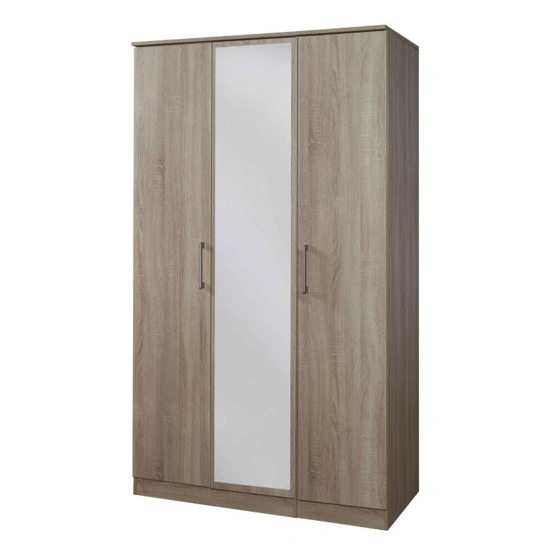 Destiny Bedroom Furniture Destiny 3 Door Mirrored Wardrobe